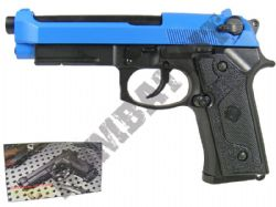 HFC M92 Vertec Full Metal Gas Blowback Airsoft BB Gun Black and Blue